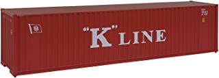 Walthers SceneMaster HO Scale Model of K-Line 40' Hi Cube Corrugated Container W/Flat Roof