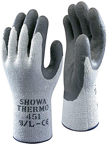10 Paar Arbeitskleidung Handschuhe Showa 451 Thermo - Thermo Winter Warm - Sicherheitsgriff - Größe 9 groß