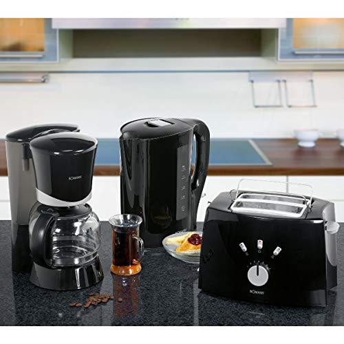 3en 1Juego de desayuno en–sischen Negra Diseño Cafetera...