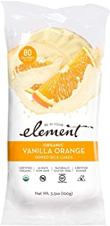 ELEMENT, Rice Cake, Og2, Van, Orange, Pack of 6, Size 3.5 OZ, (Low Carb Gluten Free Kosher Low Sodium Vegan Wheat Free Yea...