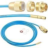 AGT Rohrreiniger: Hochdruck-Abflussreiniger für M22, M24 & 1/2', mit Dichtungen, 3 m (Hochdruck Rohrreiniger)