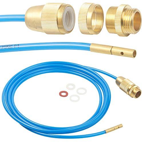 """AGT Rohrreiniger: Hochdruck-Abflussreiniger für M22, M24 & 1/2\"""", mit Dichtungen, 3 m (Hochdruck Rohrreiniger)"""