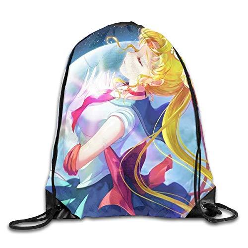 Holuday Sac de Sport Unisexe Sai-lor Moo-n M & aacute; s Sports Drawstring Backpack