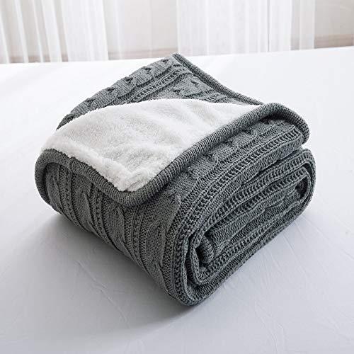 Mantas de lana para camas, manta de forro polar súper cálida de cachemir para cama y sofá, manta de microfibra de punto de felpa grande, informal, estilo europeo retro otoño e invierno