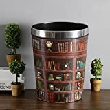 Mecotech Papierkorb Büro Vintage Mülltonne Mülleimer Abfalleimer Papierkörbe für Büro/Badezimmer/küche/Schlafzimmer, 31.5 x 24 x 20 cm (12L) - 3