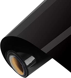 Outee 1 Roll Heat Transfer Vinyl 12 Inch by 10 Ft Iron On HTV for T-Shirts, Clothing, Hats, Jeans Compatiable with Cricut Camero Heat Press Machines Sublimation, Black
