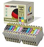 Pack de 14 XL TONER EXPERTE® Compatibles T0487 Cartuchos de Tinta para Stylus Photo R200 R220 R300 R320 R330 R340 R350 RX300 RX500 RX600 RX620 RX640 R265 R285 T0481 T0482 T0483 T0484 T0485 T0486