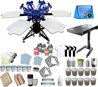 Full Screen Printing Kit 6 Color 6 Station Screen Printing Machine Starter Kit