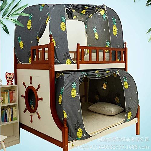 DHTOMC Mosquitero con impresión creativa, mosquitero, mosquitero, dormitorio para estudiantes, doble uso, bloqueo de luz (tamaño: 80 x 190 x 100 cm)