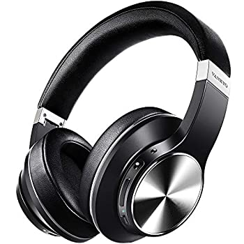 Hybrid Active Noise Cancelling Headphones VANKYO C751 Over Ear Wireless Bluetooth Headphones with CVC 8.0 Mic Deep Bass Hi-Fi Sound 30H Playtime Headset for Adults TV Online Class Home Office