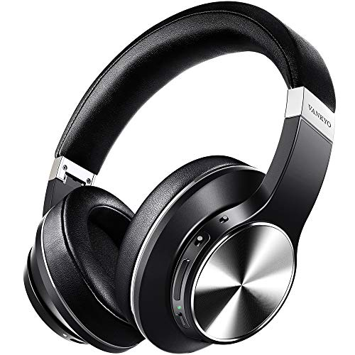 Hybrid Active Noise Cancelling Headphones, VANKYO C751 Over Ear Wireless Bluetooth Headphones with CVC 8.0 Mic, Deep Bass, Hi-Fi Sound, 30H Playtime Headset for Adults, TV, Online Class, Home Office