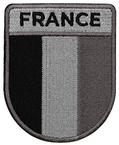 topt mili ecusson Drapeau France Francais opex Tete de Mort Legion 8x6,5cm Militaire thermocollant