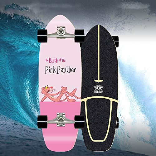 Skateboard Cruiser, Skateboard Carving Monopatín Patineta Retro Madera Skateboard Completo Niños Jóvenes...