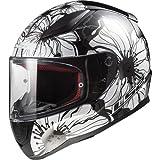 LS2 Casco Moto Ff353 Rapid Poppies, Black White, Taglia S