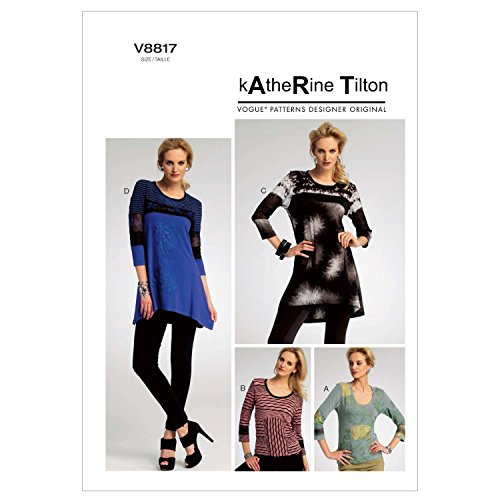VOGUE PATTERNS V8817 - Patrones de Costura para Camisetas de Mujer (Tallas 36 a 44)
