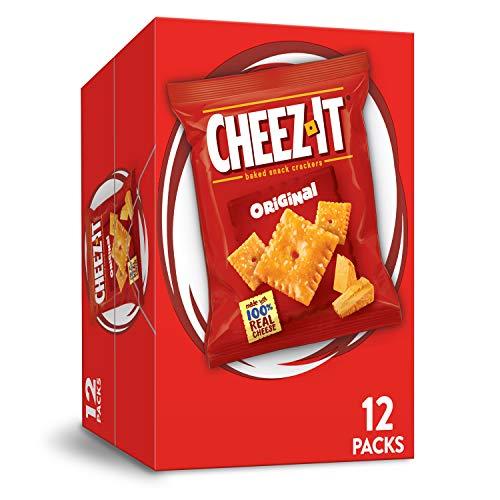 Cheez-It Baked Snack Cheese Cracker, Original, Einzelportion, 1 oz / 340 g Beutel (12 Count)