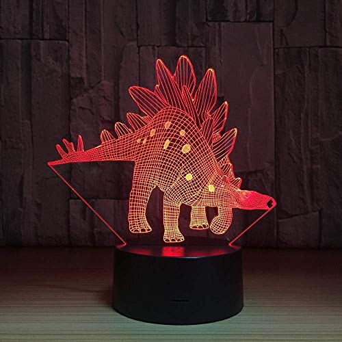 LED 3D Ilusión LED Lámpara de Escritorio dinosaur Decoración Del Hogar Regalo De Cumpleaños Para Niños Habitación De Niños Con interfaz USB, cambio de color colorido