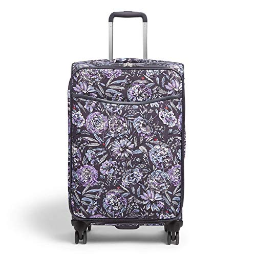 Vera Bradley Softside Rolling Suitcase Luggage, Lavender Bouquet, 27' Check In