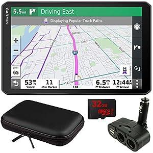 "Garmin dezl OTR800 8"" GPS Truck Navigator (010-02314-00) with Accessory Bundle"