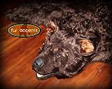 Fake Brown Bear Skin Rug/Brown Faux Fur Accent Rug/Fake Taxidermy/Log Cabin/Lodge Design/Pelt/Throw Rug