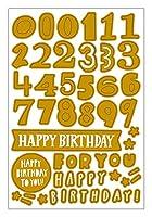 Hello!366 グリーティングカード (シール:バースデー/ゴールド)