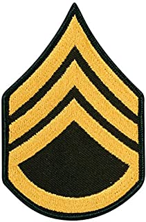 Medals of America US Army Staff Sergeant E 6 Army Class A (Gold on Green) Enlisted Rank Male Size Multicolored