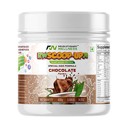 Revolutionary Wellness Scoop Up Nutrition And Plant Based Protein Powder for Kids - 400 Gm