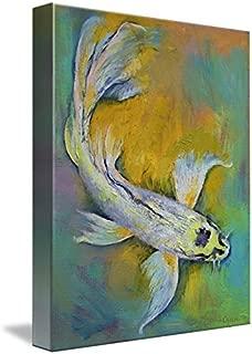 Imagekind Wall Art Print Entitled Kujaku Butterfly Koi by Michael Creese | 8 x 10