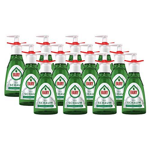 Fairy Handspülmittel Geschirrspülmittel Spülschaum Pumpflasche Starter 350ml Nachfüllbar (12er Pack)