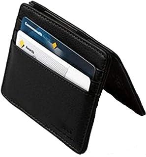 محفظة و كراته سحرية من الجلد الطبيعي بمشبك استك داخلى للنقود و حامل بطاقات للجنسين