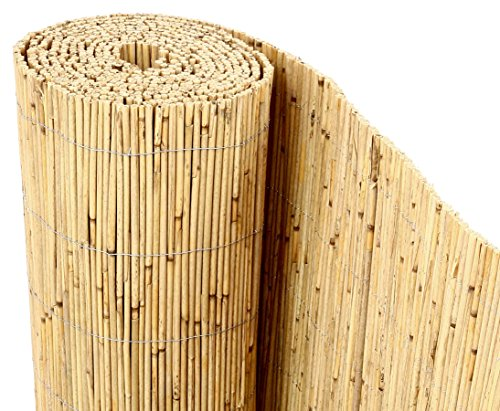 bambus-discount.com Schilfrohrmatten Premium Beach, 200 hoch x 600cm breit, EIN Produkt Sichtschutz Matten Windschutzmatten …
