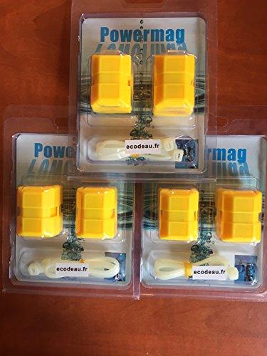 TurboMag XT6 Lot de 6paires d'adoucisseurs d'eau magnétiques anti-calcaires
