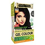 Indus Valley Natural Damage Free Gel Colour For Hair Black- 1.0