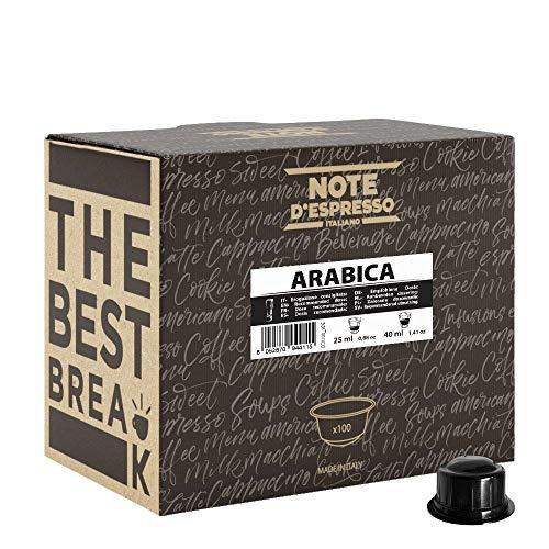 Note D'Espresso Kaffeekapseln für Caffitaly Kaffeemaschinen, Arabica - 6,8g (100-er Pack)
