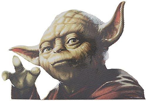 FanWraps Star Wars Classic Yoda Passenger Series Perforated Vinyl Window Decal