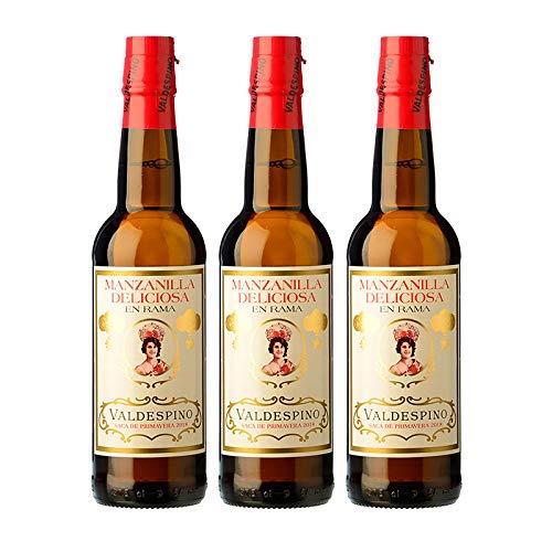 Cata Vertical Deliciosa en Rama - Vino Manzanilla de 37.5 cl - Sacas de 2018, 2019 y 2020 - D.O. Manzanilla de Sanlucar de Barrameda - Bodegas Valdespino