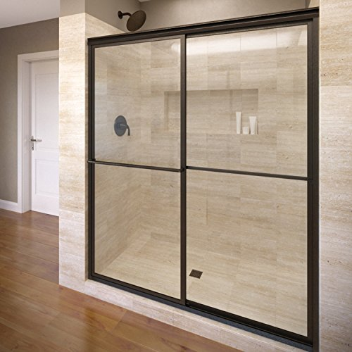 Basco DLXH05A5971CLOR Deluxe Framed shower door, Oil Rubbed Bronze