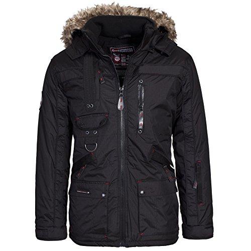 Geographical Norway CHIR Premium Herren Winterjacke Jacke Parka Gr. S-XXXL, Größe:XXXL;Farbe:Schwarz