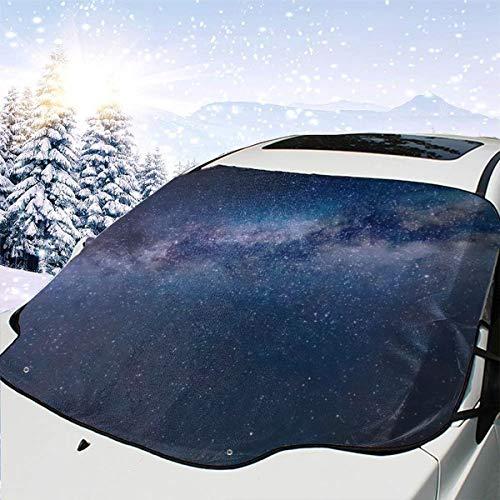 Way Star Nachtszene Milky Space Parks Galaxy Sternenhimmel Panorama Universum Windschutzscheibenabdeckung 57,9X46,5 Zoll Passt für die meisten PKW-LKW-Geländewagen oder Automobile Hält Eis & Schnee vo