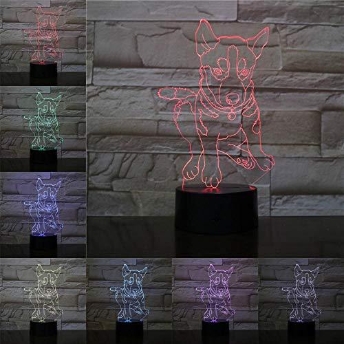 Bijbel 3D nachtlampje kinderen nachtlampje, 7 kleuren veranderende optische illusie kinderlamp - perfect cadeau voor jongens, meisjes met Kerstmis verjaardag of vakantie