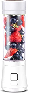 ZXvbyuff Juicer Blender Portable Personal Size Travel Juice Cup Shake Blender, Multifunctional Automatic Blender Student Baby Food 6 Leaf Blade 480Ml Suitable for Travel Home Office Sports