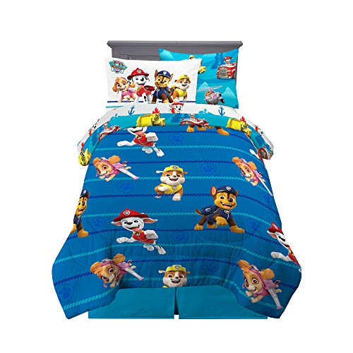 Franco Kids Bedding Super Soft Comforter and Sheet Set with Sham 5 Piece Twin Size Paw Patrol