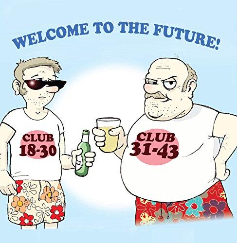 Twizler Grußkarte, Motiv Club 18-30/Club 31-43 und Bier, leere Innenseite