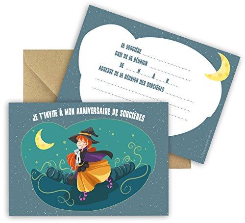 Einladungskarten Geburtstag Hexe 5 Stück