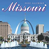 """Missouri 2022 Calendar: 12-month Calendar - Square Small Gorgeous Calendar 8.5x8.5"""" for planners with large grid for note"""