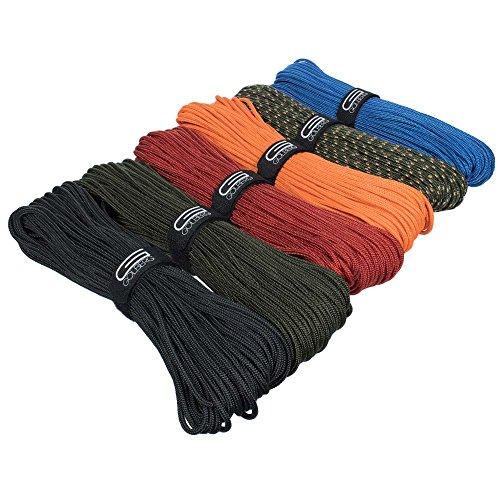 Golberg Premium Polyester Accessory Cord - USA Made Smooth Braid Minimal Stretch Rope - (50 Feet x 4mm, Royal Blue)