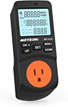 Energy Meter, Meterk Plug-in LCD Watt Energy Meter Electricity Energy Monitor with 12/24 Hours Mode and 2 Modes 2 Calculation Method Timed Off Timer