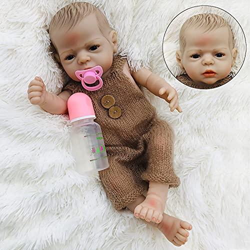 TTWLJJ Muñeca Reborn de Muñeca Cuerpo de Goma Super Cute Muñeca para niños realistas Linda muñeca Juguete Recuerdos De Cumpleaños