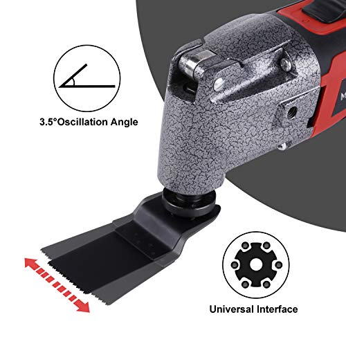 MANUSAGE 2.5 Amp Oscillating Tool,Variable Speed Oscillating Multi Tool Kit with 3.5°Oscillation Angle,Quick Blade Change System and 13pcs Accessories for Cutting,Sanding and Grinding