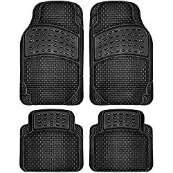 OxGord 4pc Rubber Floor Mats Universal Fit